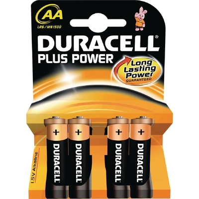 Piles AA Duracell par 4