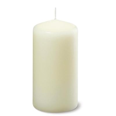 Bougies cylindriques Bolsius ivoire 130mm par 6