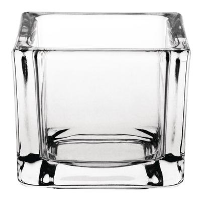 Photophore carré en verre transparent lot de 6