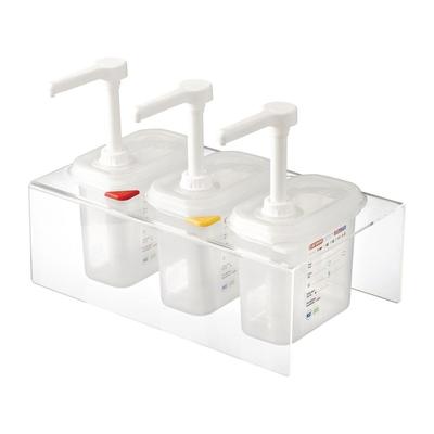 Lot de 3 distributeurs de sauce Araven GN 1/9 transparents 1.5L