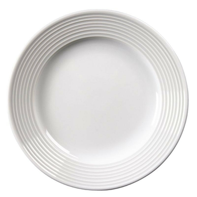 Assiettes à bord large en porcelaine fine Linear 310(Ø)mm par 6