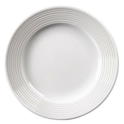 Assiettes à bord large porcelaine fine Linear par 12