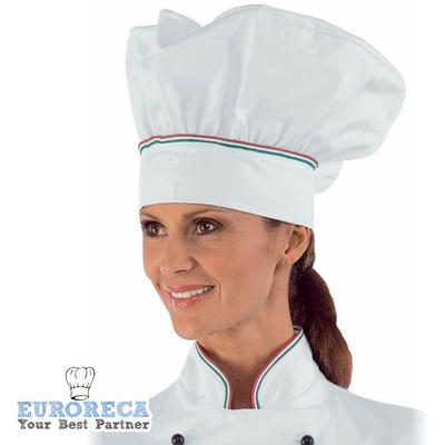 Toque de chef COPPOLLA blanche liseret Italien