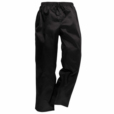 Pantalon de cuisinier noir avec bouton T.3 48/50 DERNIERE PIECE
