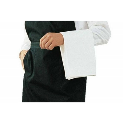 Serviettes liteau blanches bande de satin 558 x 558mm par 10