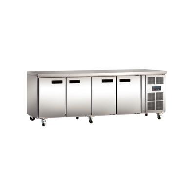 Table réfrigérée inox 4 portes 553L