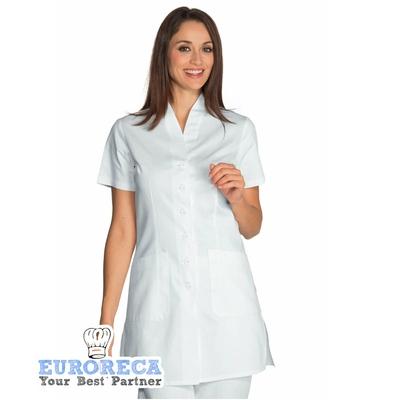 Blouse blanche de qualité médicale Femme Antibe 100% Coton