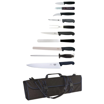 Mallette à couteaux 11 pièces et étui Victorinox