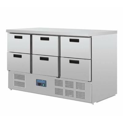 Table réfrigérée 6 tiroirs INOX GN 1/1