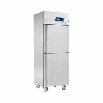 Armoire frigorifique et congélation ventilée 2x 350 Lit. 2 portes GN 2/1, sur roues