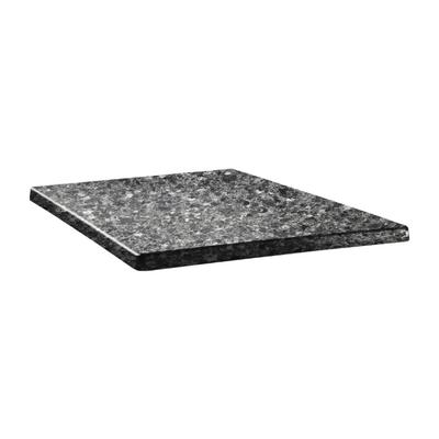 Plateau de table carré Topalit Classic Line 60x60cm granite noir