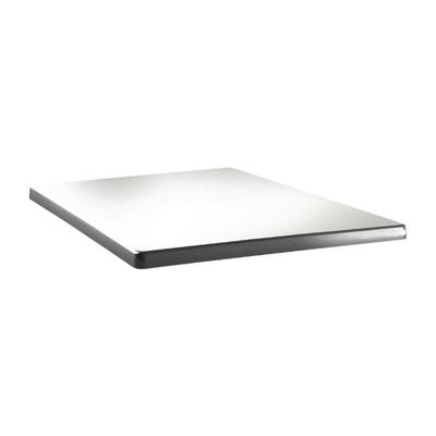 Plateau de table carré Topalit Classic Line 60x60cm blanc pur