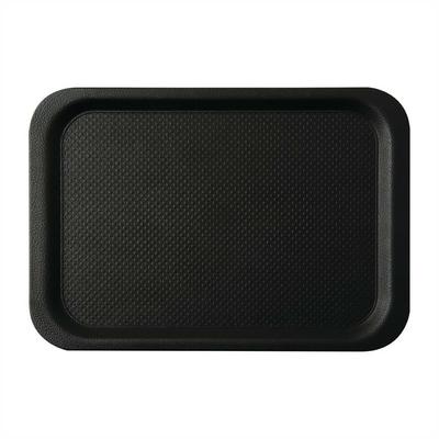 Plateau antidérapant Roltex Blackline rond 420 x 300mm noir