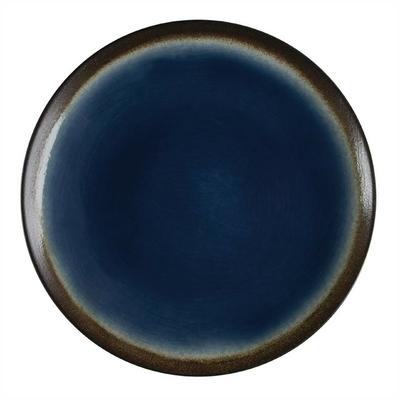 Assiettes à tapas rondes Nomi bleues 255mm par 4