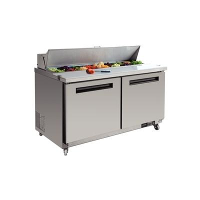 Comptoir de préparation saladette inox 2 portes 527L