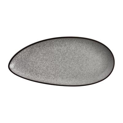 Assiettes feuille Mineral 255mm par 6