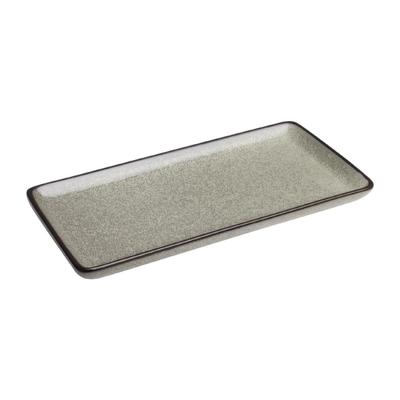 Assiettes rectangulaires Mineral 230mm par 6