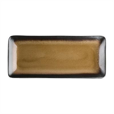 Assiettes à tapas rectangulaires Nomi jaunes 245mm par 6