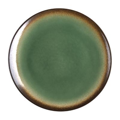 Assiettes à tapas rondes Nomi vertes 255mm par 4