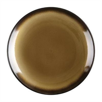 Assiettes à tapas rondes Nomi jaunes 255mm par 4