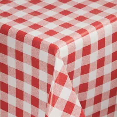 Nappe PVC à carreaux rouges 1370 x 2280mm
