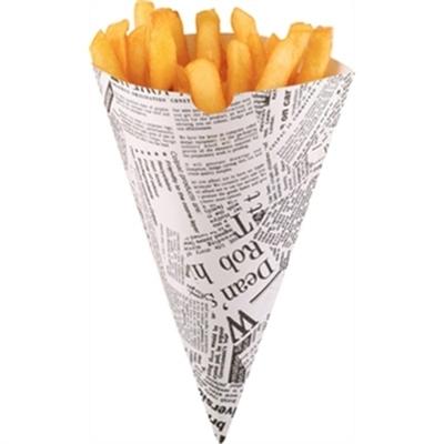 Cornets à frites jetables papier imprimé par 1000SOLDES derniere boite à ce prix