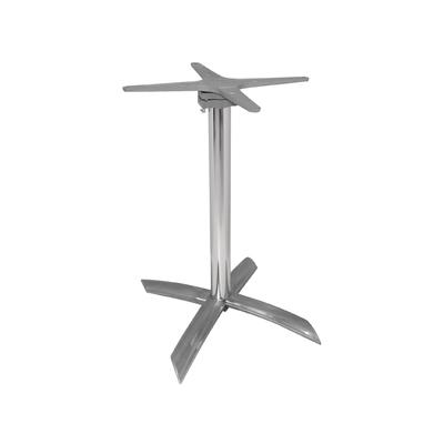 Pied de table à plateau basculant aluminium
