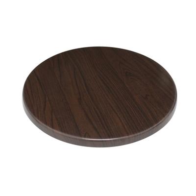 Plateau de table rond 600mm marron foncé