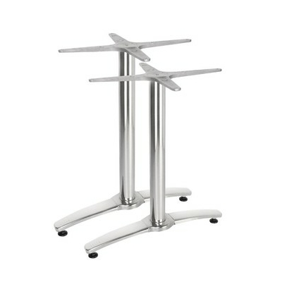 Pied de table double aluminium