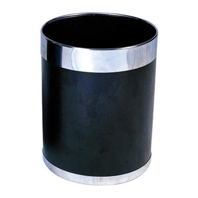 Corbeille à papier argenté ou doré  Noir et bagues argentées.
