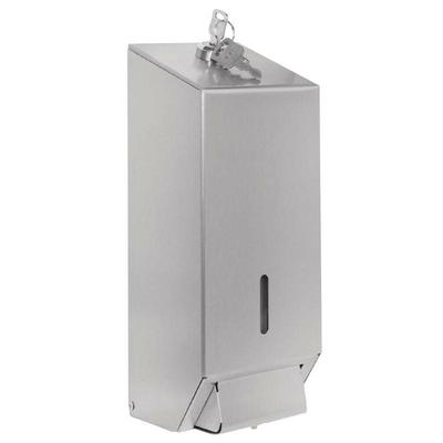 Distributeur de savon liquide en acier inoxydable satiné