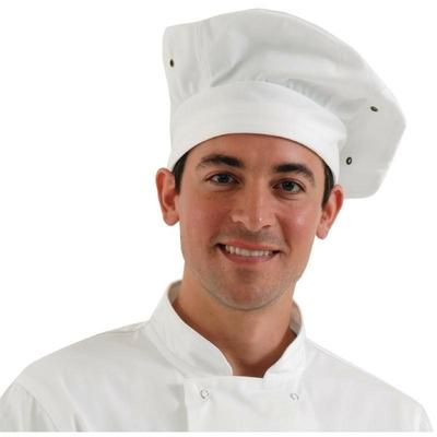 Toque Pizzaïolo blanche