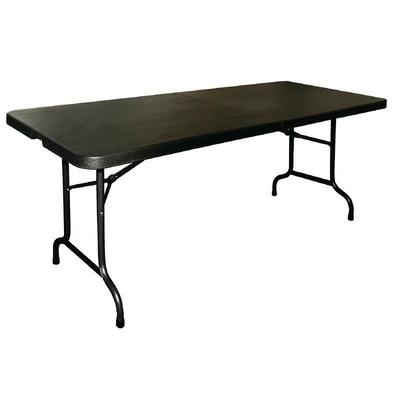 Table pliable au centre noire 1829mm