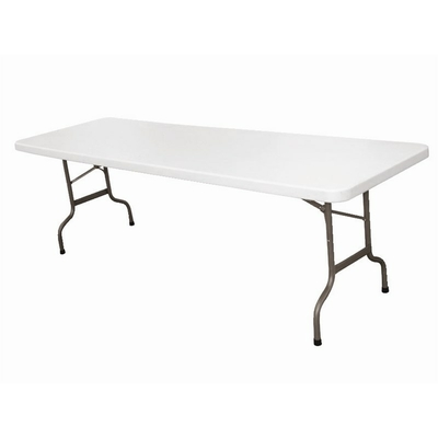 Table pliable au centre blanche 2430mm