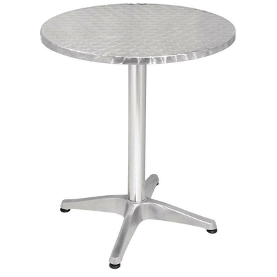 Table bistro ronde  600mm en aluminium