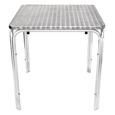 Table carrée empilable 700mm inox