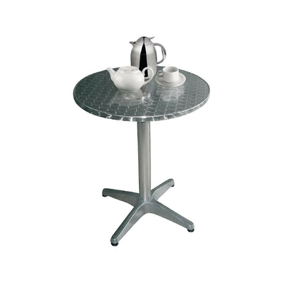 Table bistro ronde inox 800mm