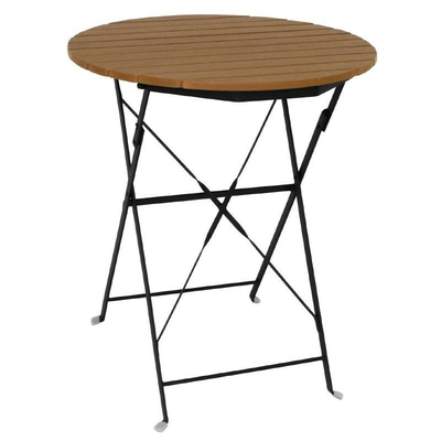 Table bistro ronde en imitation bois 600mm