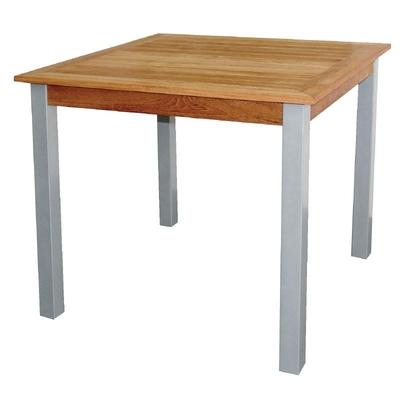 Table carrée en bois et aluminium 800mm