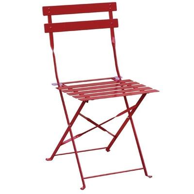 Chaises de terrasse en acier rouges par 2
