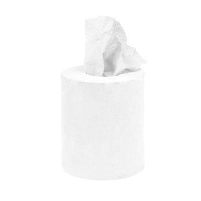 Mini rouleau à alimentation centrale blanc 1 pli par 12