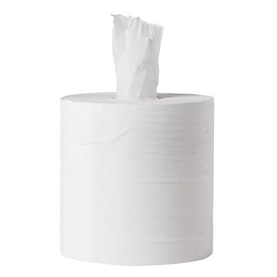 Bobine à alimentation centrale 1 pli Jantex blanche par 6