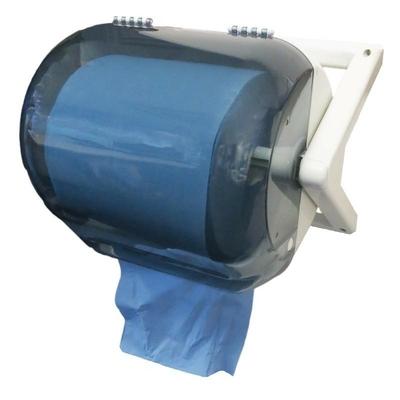 Distributeur en plastique d'essuie-mains bleu