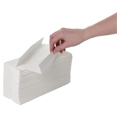Essuie-mains pli en C blanc par 24
