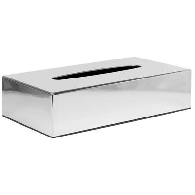 Boîte à mouchoirs rectangulaire chromée