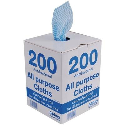 Chiffons tout usage antibactériens bleus boite de 200
