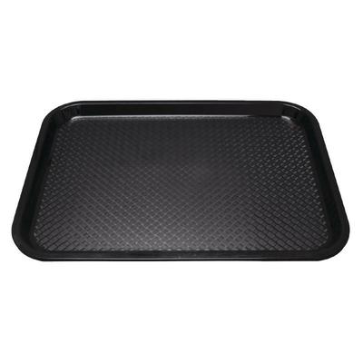 Plateau fast food en plastique Kristallon noir 345 x 265mm