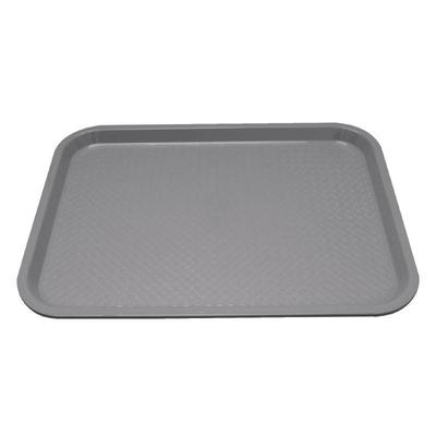 Plateau fast food en plastique Kristallon gris 345 x 265mm.