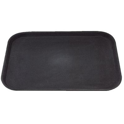 Plateau rectangulaire antidérapant Kristallon noir 356 x 457mm