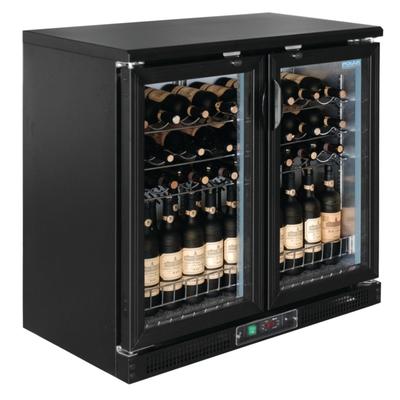Cave à vin horizontale double portes pivotantes 56 bouteilles